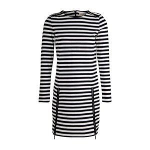 Michael Kors Zip-Detail Striped Dress